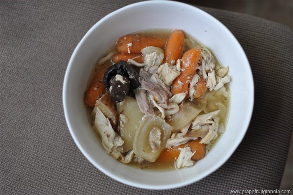 Slow Cooker Chicken and Mixed Vegetables Grapefruit and Granola 2