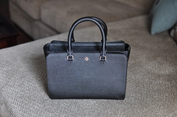 Tory Burch Small Robinson Zip Leather Tote
