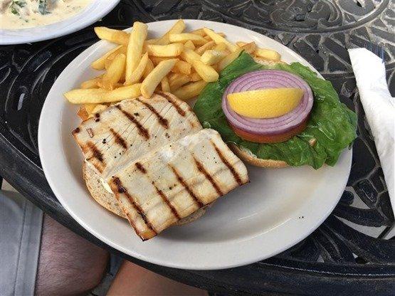 Aqua Bistro St. John mahi sandwich