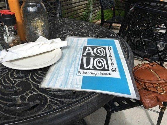 Aqua Bistro St. John menu