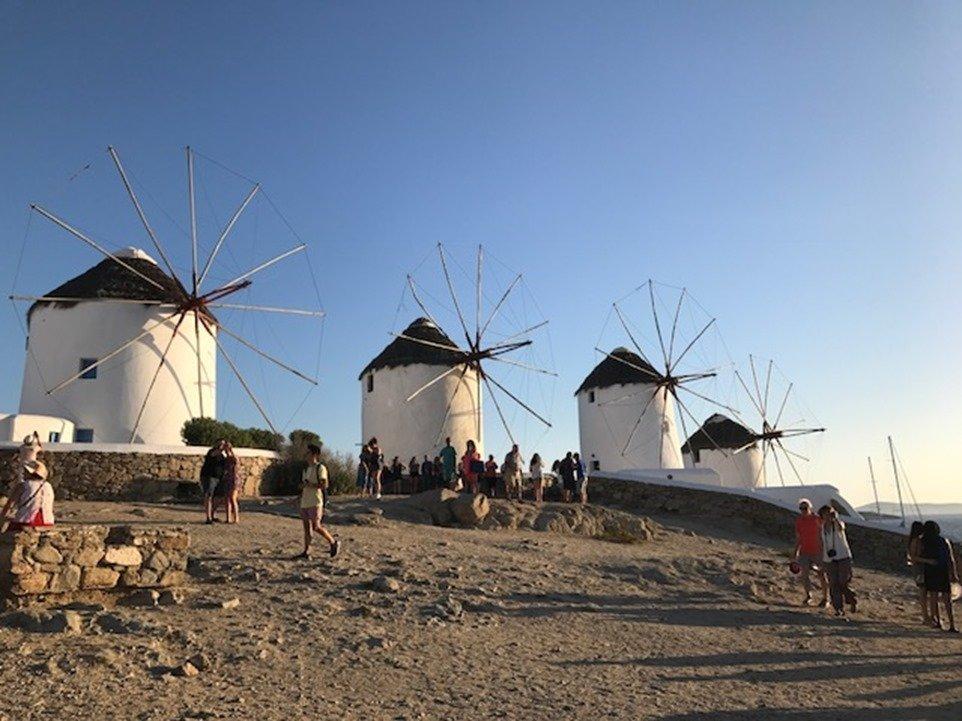 Mykonos Little Venice Windmills